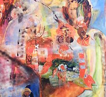"""Duo à 4 mains """" jardin d'eden 1 """" by Isabelle Nivet"""