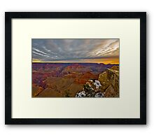 Grand Canyon National Park Sunrise and Snow Framed Print