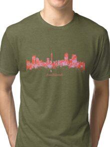 Auckland New Zealand Skyline art Tri-blend T-Shirt