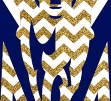 Chevron Gold and Navy Murray State University Sticker