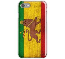Vintage Rasta Flag iPhone Case/Skin
