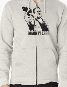 The Big Lebowski Mark It Zero T-Shirt Zipped Hoodie