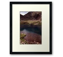 Dull lake near Baborte Peak Framed Print