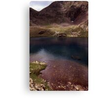 Dull lake near Baborte Peak Canvas Print