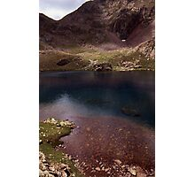 Dull lake near Baborte Peak Photographic Print