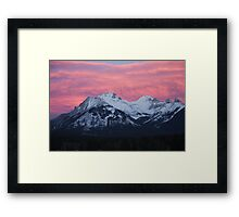 Banff Sunset Framed Print