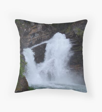 Cameron Falls, Waterton Throw Pillow