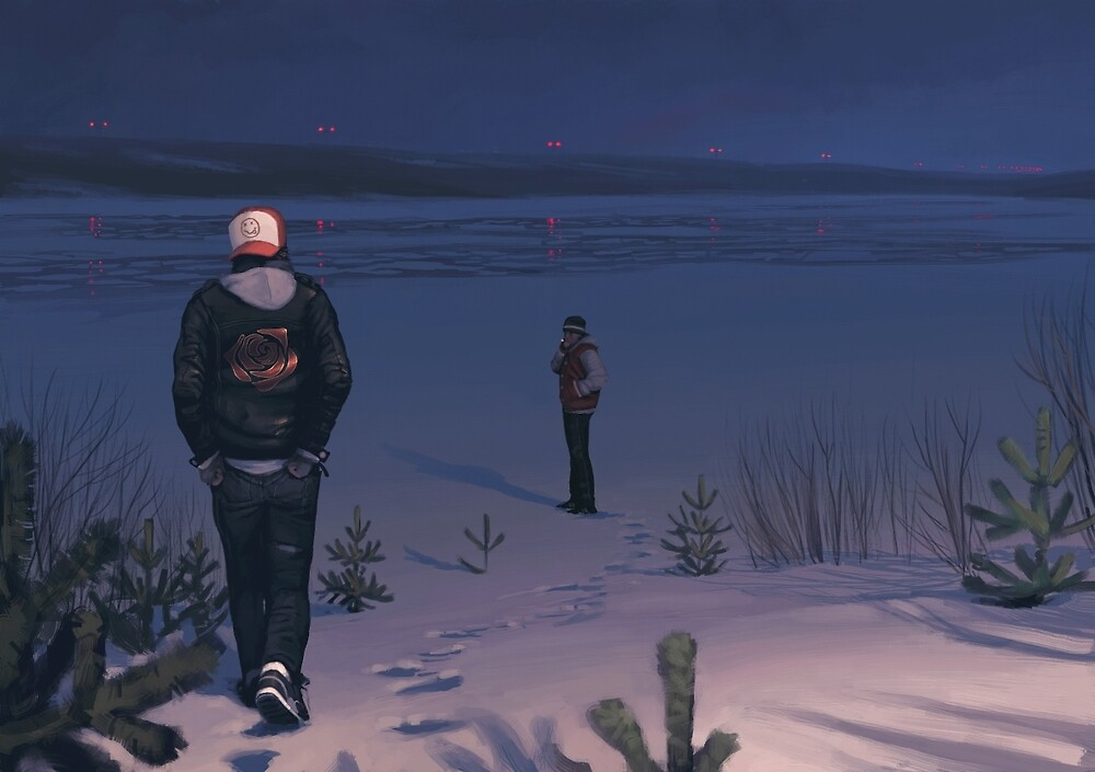 What Now Towers To The Sky by Simon Stålenhag