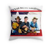 Texas Music Legends Throw Pillow