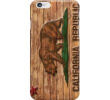 Distressed California Flag Wood Look iPhone Case/Skin