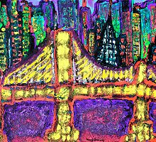 City Bridge Lights by Manny  Peron