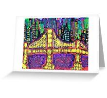 City Bridge Lights Greeting Card