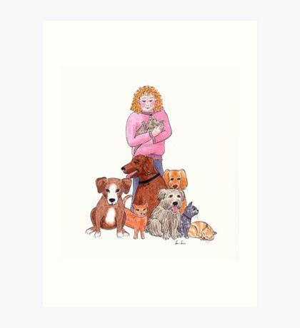 Rescue animals Art Print