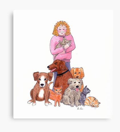 Rescue animals Canvas Print