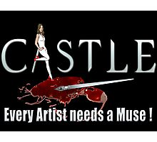 Castle Art Pen Every Artist needs a Muse white 2 Photographic Print