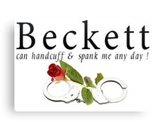 Beckett can handcuff n spank me any day 2 Canvas Print