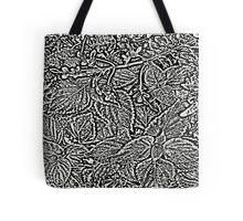 Leaves #7 in Black & White Tote Bag