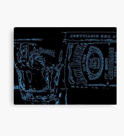 Neon JD Whiskey Canvas Print