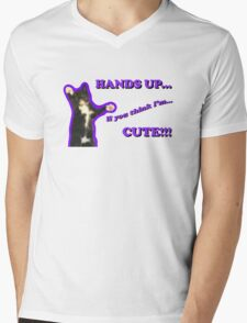 Hands Up If You Think I'm Cute! Mens V-Neck T-Shirt