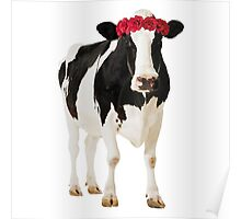 Crowned Cow Poster