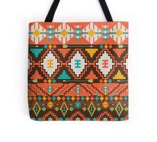 Aztec geometric seamless  colorful pattern Tote Bag