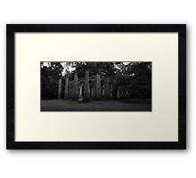 Old Sheldon Church 6 BW  Framed Print
