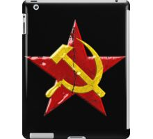 Large distressed Soviet symbol iPad Case/Skin