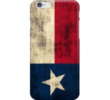 Vintage Grunge Flag of Texas iPhone Case/Skin