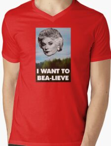 I Want to Bea-lieve Mens V-Neck T-Shirt