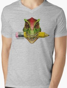 Dino Art Crunch Mens V-Neck T-Shirt