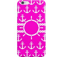 Cute Pink Nautical Anchors Pattern iPhone Case/Skin