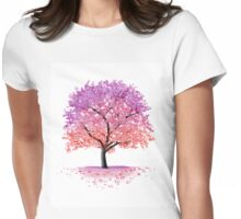 Blossom Tree Womens Fitted T-Shirt