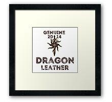 Orlais Leather - Dragon Framed Print