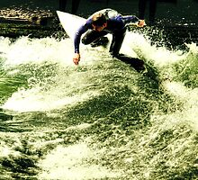surfing on...Isar river by Luisa Fumi