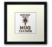 Orlais Leather - Nug Framed Print