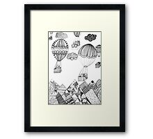 Fly me to the moon - surreal storry Framed Print
