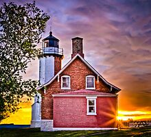 Eagle Harbor Lighthouse -  Eagle Harbor, Michigan by Peter Thorpe