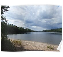 Watching The Storm Move, From The Beach At McManus Lake, Algonquin Park Poster