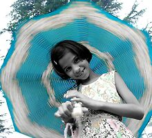 Cute Girl Play With Umbrella ! by Naveen  Sharma