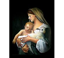 Madonna and Child: After Bougeureau, Original Oil Pastel Photographic Print