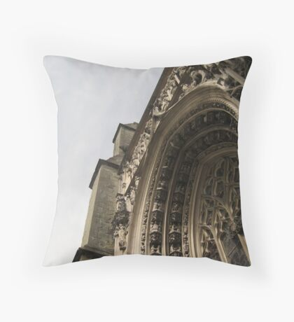Abundant Souls, Lausanne Cathedral, CH Throw Pillow