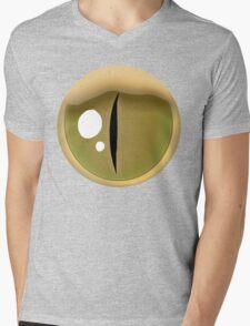 Simple Rattlesnake Eye – Brown Mens V-Neck T-Shirt