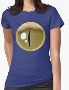 Simple Rattlesnake Eye – Brown Womens Fitted T-Shirt