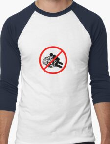 Don't fuck my brain! Men's Baseball ¾ T-Shirt