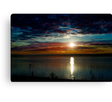 Waking up at Digby - Nova Scotia Canvas Print