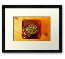 Jak Daniels Single Barrel Framed Print