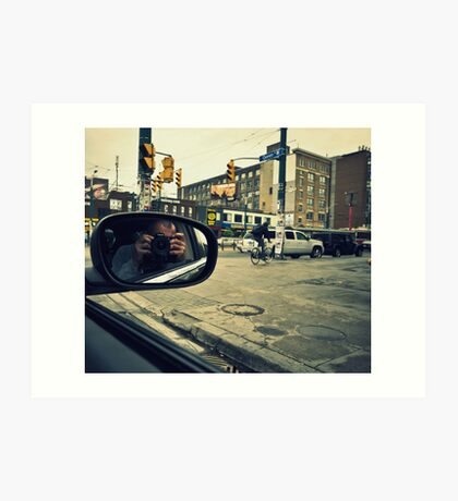 Photographer in Downtown  Art Print