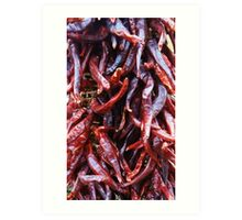 Chillie peppers Art Print