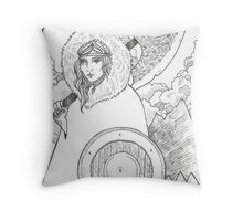 Wheel of Fortune - Tarot Card Throw Pillow