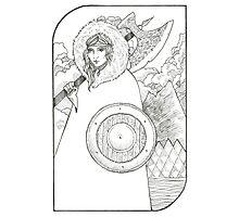 Wheel of Fortune - Tarot Card Photographic Print